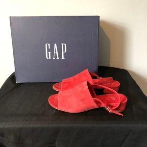 Gap Open-Toe Slingback Block Heel Mules